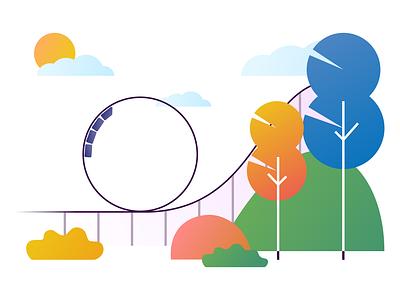 Theme-park Illustration theme park vector illustration