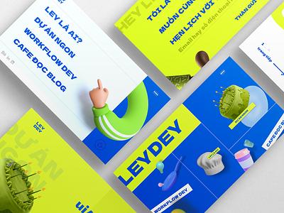 Leydey - Portfolio Website 3d ilustration creative blue neon xd design portfolio page portfolio ui  ux ui design design