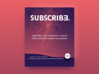#026 DailyUI - Subscribe