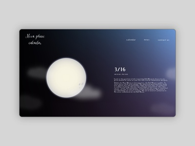 Moon Phase Calendar Website