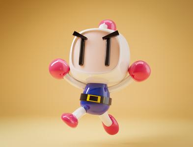 Bomberman illustration design blender 3d