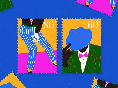 Stamp simple art stamp illustration