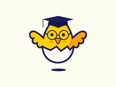 Chick mascot cartoon icon illustration branding cute animal logo vector chicken chick bird