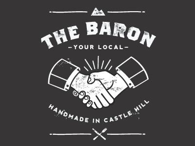 The Baron  handshake baron illustration bar lee jowono earthbound hand