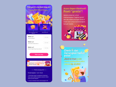 Recent works for users in Southeast Asia app interface ui illustration