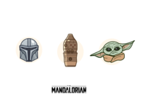 The Mandalorian from The Star Wars