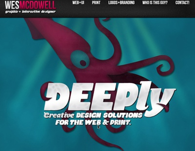 wesmcdowellcreative.com webpage web design web illustration website typography