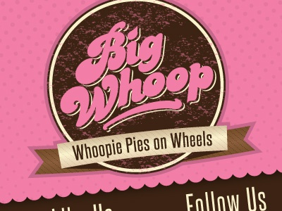 Big Whoop food truck logo & site logo website