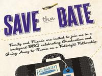 Grad/Bon Voyage Save the Date