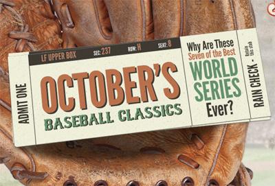 Online Magazine Headline baseball typography vintage