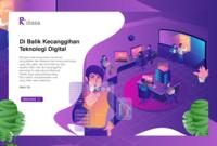 Hero illustration for teknologi information website