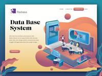 analystics Data Base flat design