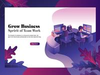 Landing Page Carakter Illustratiion Office 01