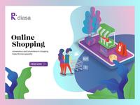 Flat   Isometric Design Modern Website Online Shop 01