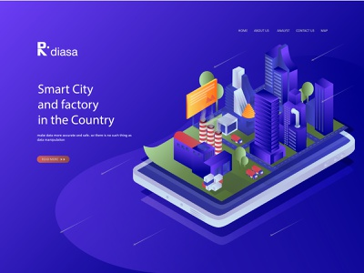 Flat Isometric Design Smart City business best logo esport background design isometric banner design ux tecnology modern flat design vector ui illustration illustrate web  design home page landing page character