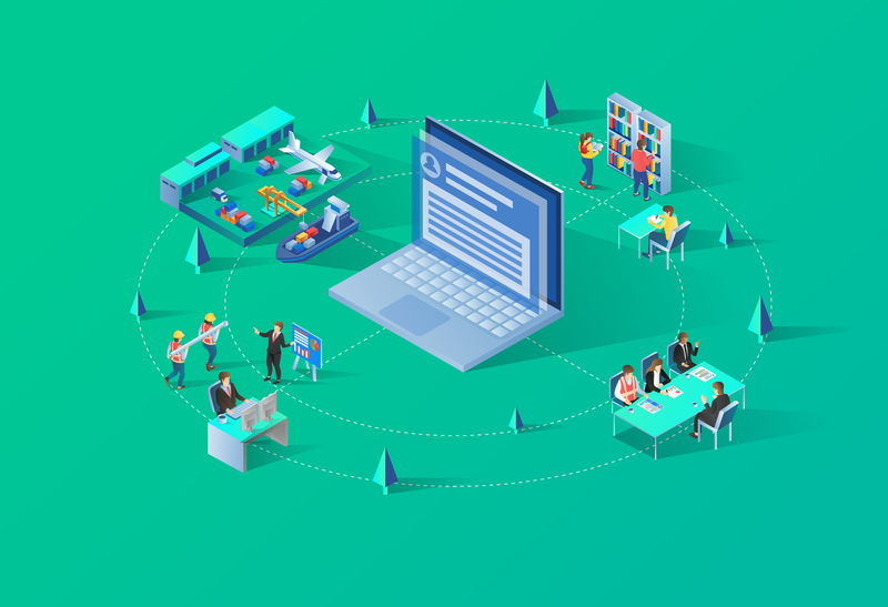 Isometric Komputer 01 01 01 03 01 meeting meetup people illustration computing laptop industry vector ui ux web  design banner business isometric tecnology modern illustration flat design home page landing page character