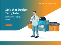 isometric illustration for landing page profesional 01