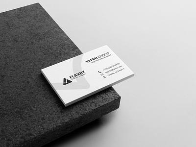 "Business card branding ""FLAXBY"" brandbook lawyer paper gray branding brand font typography визитная карточка визитка logo полиграфия печать дизайн card bussines"