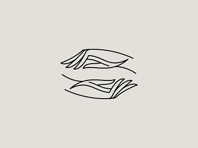 We're in this together. elegant hand logo custom logo design minimal logo monoline hands icon branding identity design mark logo