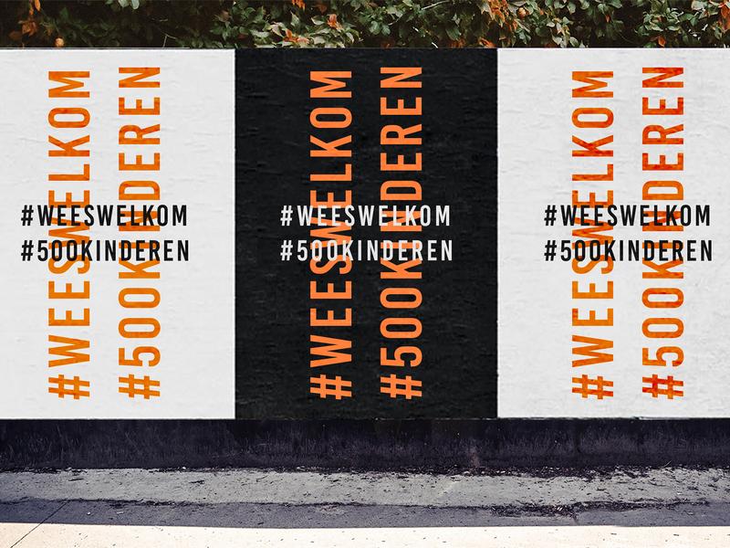 #weeswelkom #500kinderen poster design branding poster identity design lettering typography