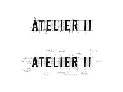 Atelier II - process sketches art direction process sketch custom logo design brandidentity branding identity design lettering typography logo