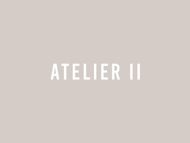 ATELIER II custom logo design type wordmark logo wordmark branding identity design lettering mark typography logo