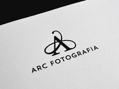 A for ARC. logo icon mark monogram typography serif a branding identity print