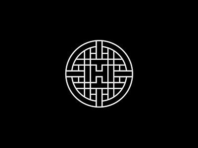 H_badge logo design brandidentity circle monoline custom logo design emblem fashion monogram branding design identity lettering mark typography logo