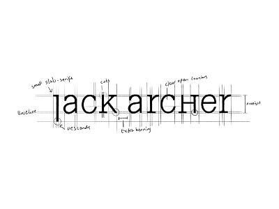 JA Sketch - WIP work in progress process sketch custom logotype custom logo design custom lettering custom typography fashion design branding identity lettering typography logo