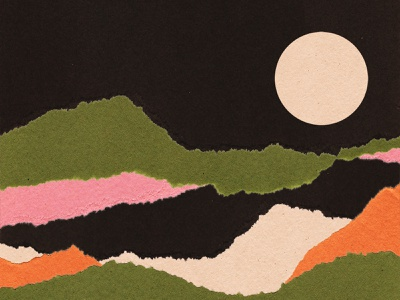 Paper Collage (3) artwork paper colours paper art nature collageart landscape art direction branding collage