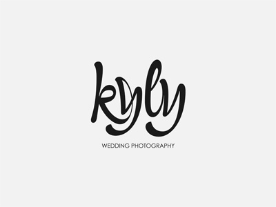 kyly logo design typo typography handwritten grey