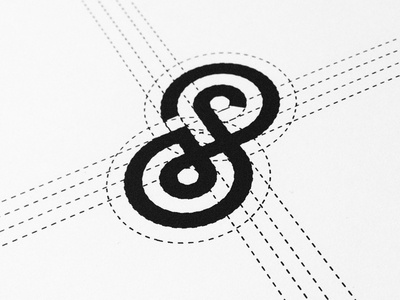 S+8 logo mark icon monogram circles grid process construction s 8 letter number