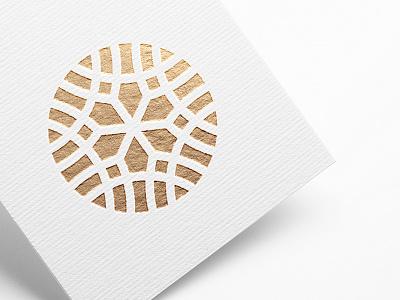 Orpheus Management pt.II stationary stamped gold o circle emblem graphic mark logo