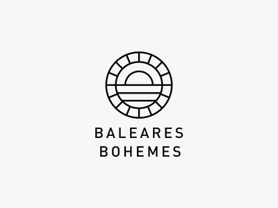 BB stamp emblem minimalistic travel monoline mark graphic logo