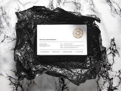 Business Cards Orpheus Management mockup stationary identity branding logo