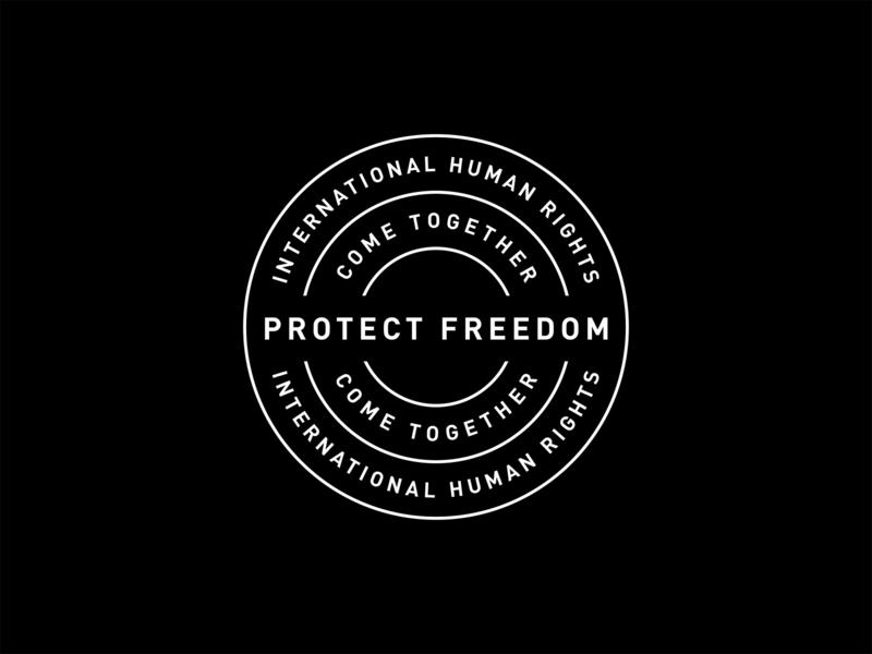 Protect Freedom Badge design vintage message badge stamp branding identity circle emblem lettering typography logo