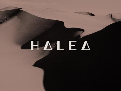 Halea minimal skincare custom lettering wordmark fashion branding identity design lettering mark typography logo