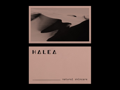 Halea (2) logomark business card card wordmark brandmark stationary design stationary skincare fashion branding identity lettering mark typography logo