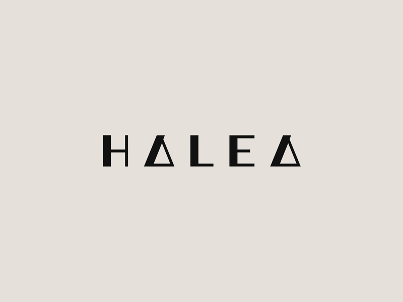 Halea (3) wordmark skincare fashion branding identity design lettering mark typography logo