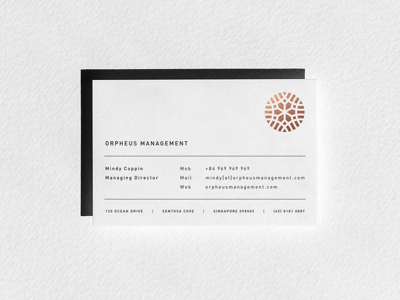 Orpheus BC business card stationary graphic stamp circle fashion emblem branding identity design icon mark typography logo