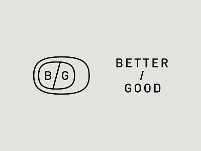 Better Good letter stamp circle branding identity design monogram lettering mark typography logo