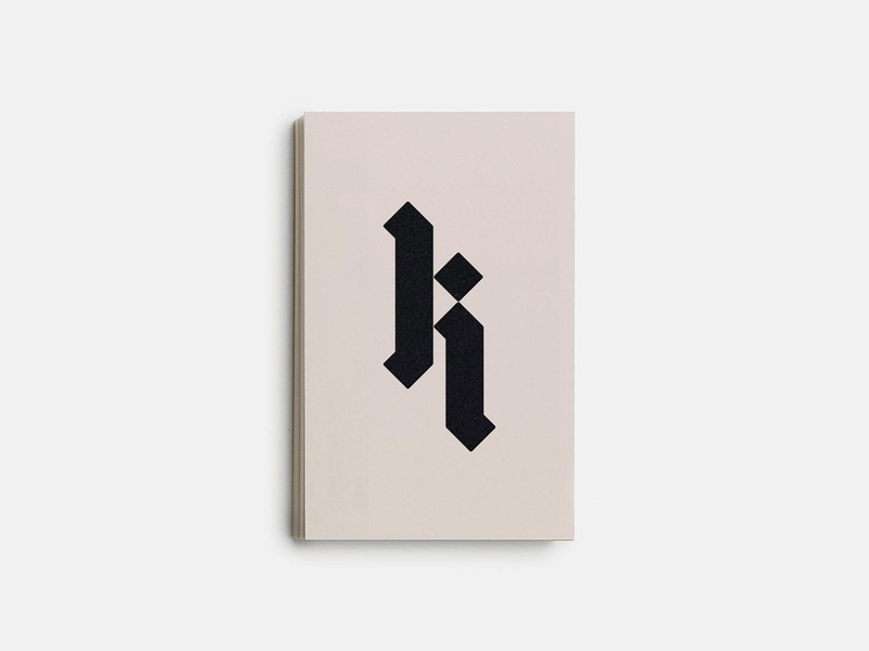 K  02. brandidentity blackletter script black stationary stamp letter vintage fashion branding identity design monogram icon lettering mark typography logo
