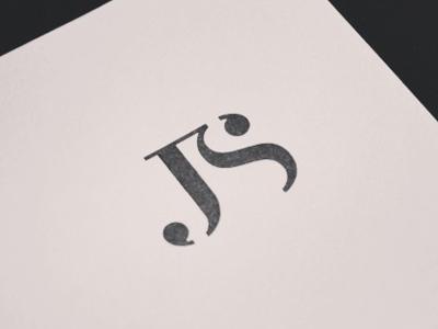 J/S Monogram branding design logo icon mark symbol monogram j s fashion typography stamp type identity