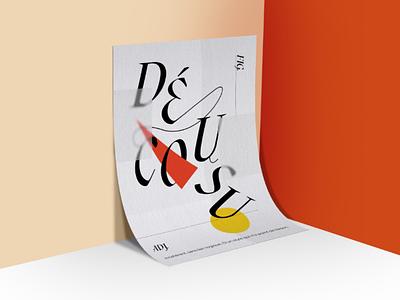 Décousu clean vector lettering design typography illustrator