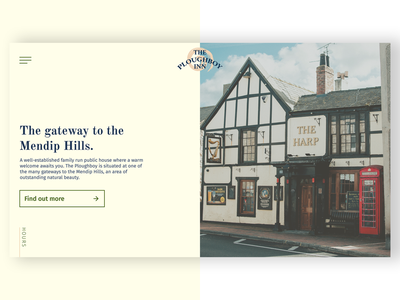 The Ploughboy Inn Redesign pub figma uidesign website design webdesign website web