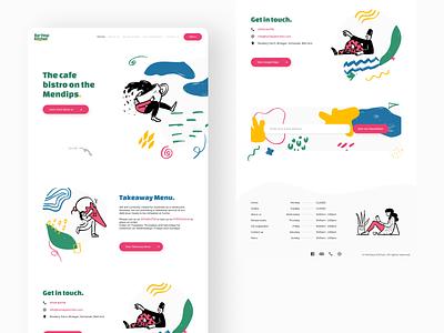 Hartleys Kitchen Cafe Redesign fun soft cafe figma uiux ui website design webdesign website web