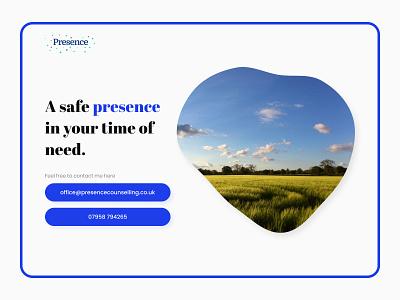 Presence Counselling Website Design uidesign uiux website builder figma website design webdesign website web