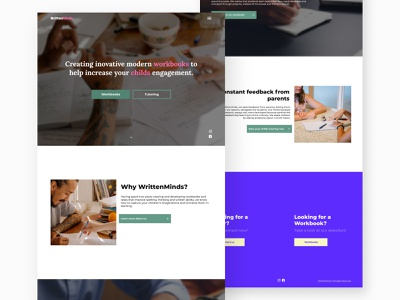 WrittenMinds // Home Page uiux ui website uidesign website design webdesign web figma
