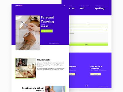 WrittenMinds // Tutoring Page uiux ui website uidesign website design webdesign web figma