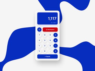Mobile Calculator UI dailyui uidesign ui webdesign web figma